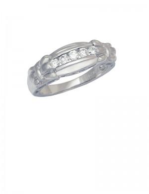 0.27ct Diamond 18K White Gold Ring
