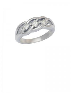 0.45ct Diamond 18K White Gold RIng