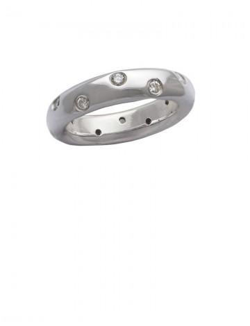 0.43ct Diamond 18K White Gold Ring