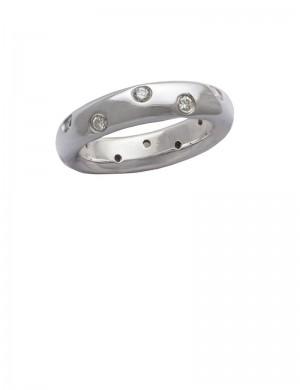 0.39ct Diamond 18K White Gold Ring