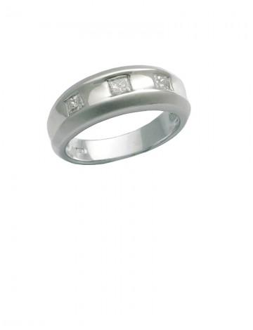 0.35ct Diamond 18K White Gold Ring