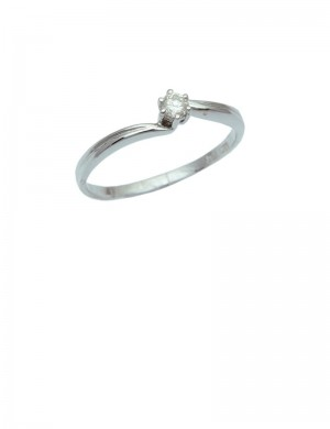 0.10ct Diamond 18K White Gold Ring