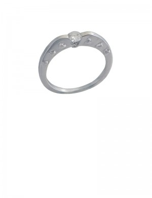 0.18ct 18K White Gold Diamond Ring
