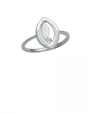 0.05ct Diamond 18K Gold Ring