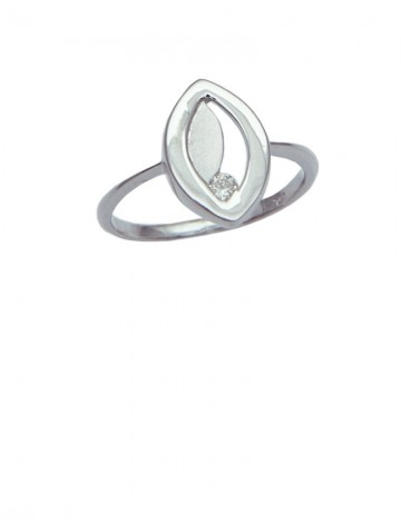0.05ct Diamond 18K White Gold Ring