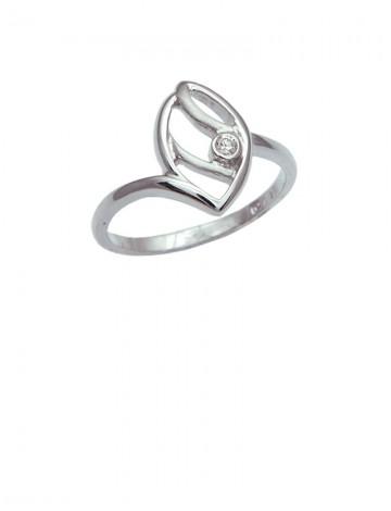 0.04ct Diamond 18K White Gold Ring