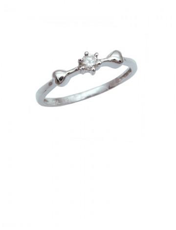0.10ct Diamond 18K White Gold Ring