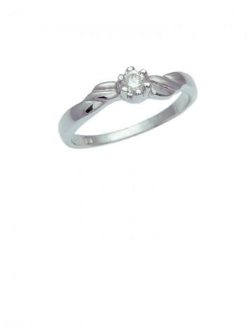 0.11ct Diamond 18K White Gold Ring