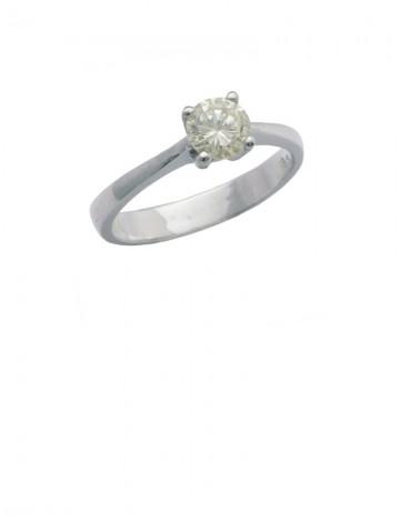 0.38ct Diamond 18K White Gold Ring