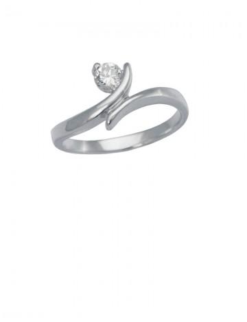 0.13ct Diamond 18K White Gold Ring