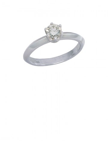 0.32ct Diamond 18K White Gold Ring