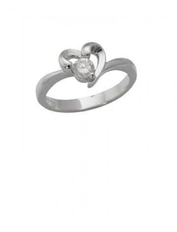 0.21ct Diamond 18K White Gold Ring