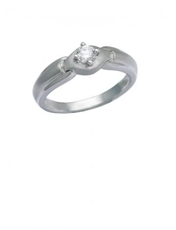 0.18ct Diamond 18K White Gold Ring