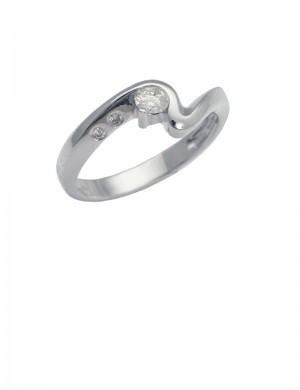 0.16ct Diamond 18K Gold Ring