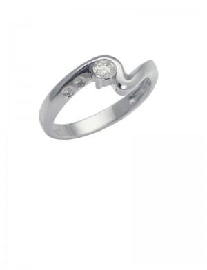 0.16ct Diamond 18K Gold Ring