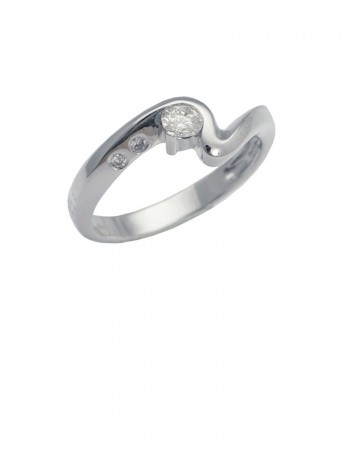 0.16ct Diamond 18K White Gold Ring