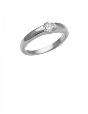 0.37ct Diamond 18K White Gold Ring