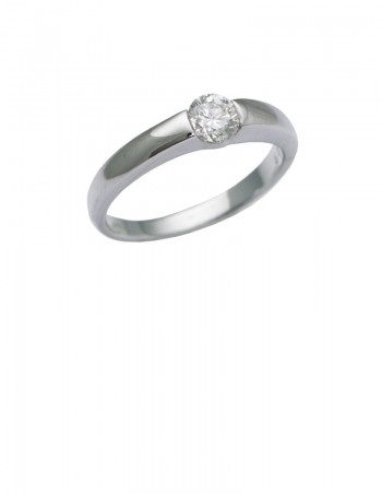 0.37ct Diamond 18K White Gold Ring