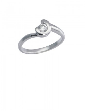 0.27ct Diamond 18K White Gold Ring