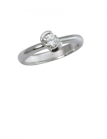 0.32ct Diamond 18K White Gold Ring