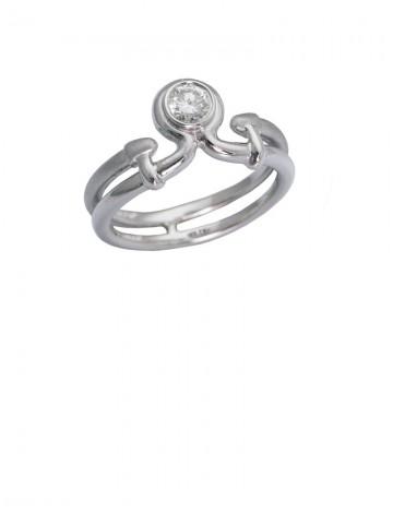 0.22ct Diamond 18K White gold Ring