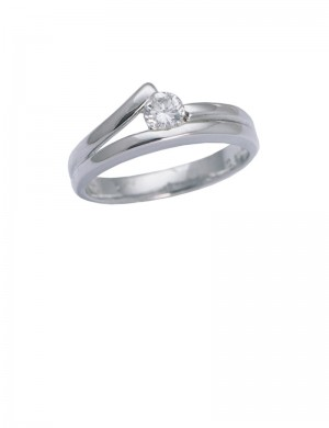 0.29ct 18K Gold Diamond Ring