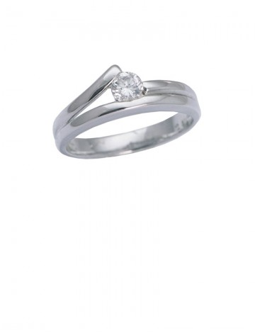 0.29ct Diamond 18K White Gold Ring