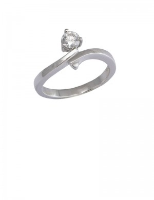 0.30ct Diamond 18K White Gold Solitaire Ring