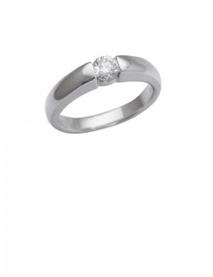 0.32ct 18K Gold Solitaire Diamond Ring