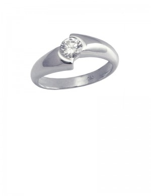 0.33ct Diamond 18K Gold Solitaire Ring
