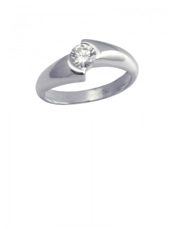0.33ct Diamond 18K White Gold Ring