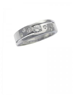 0.33ct Diamond 18K White Gold Ring
