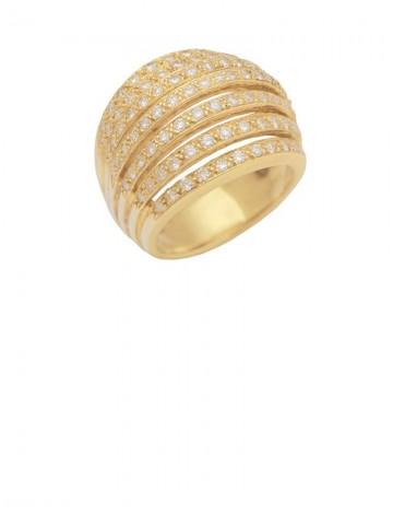 1.29ct Diamond 18K Yellow Gold Ring