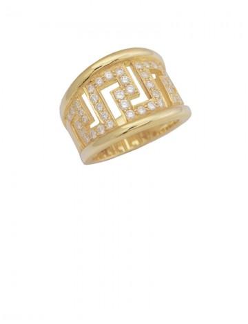 0.69ct Diamond 18K Yellow Gold Ring