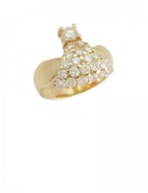 1.38ct Diamond 18K Gold Ring