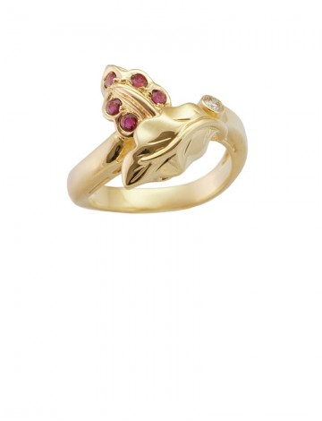 Ruby Diamond 18K Yellow Gold