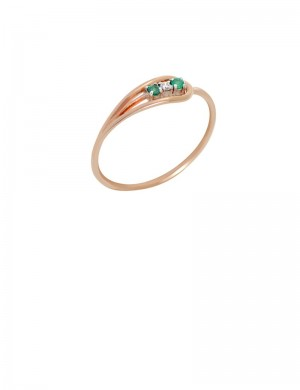 0.10ct Emerald 18K Gold Ring
