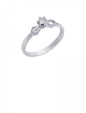 0.10ct Diamond 18K Gold Solitaire Ring