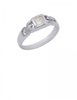 0.34ct Diamond 18K Gold Solitaire Ring
