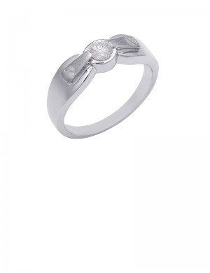 0.26ct Diamond 18K Gold Solitaire Ring