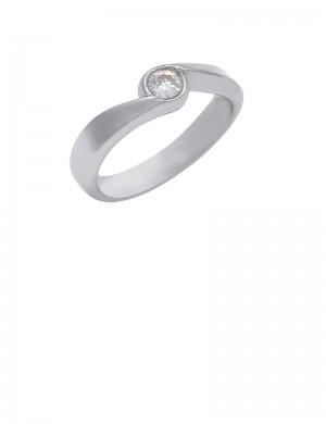 0.14ct 18K Gold Solitaire Diamond Ring