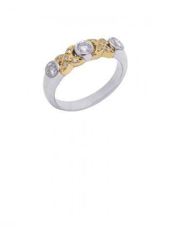 0.52ct Diamond 18K White & Yellow Gold RIng