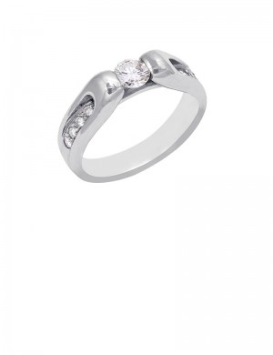 0.57ct Diamond 18K Gold Solitaire Ring