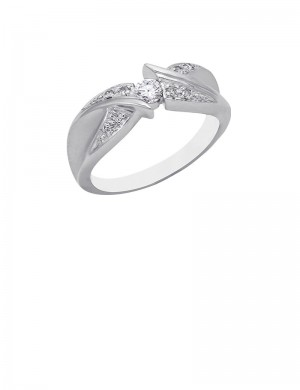 0.19ct Diamond 18K Gold Solitaire Ring
