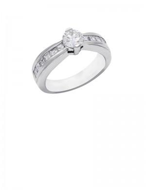 0.95ct Diamond 18K White Gold Ring