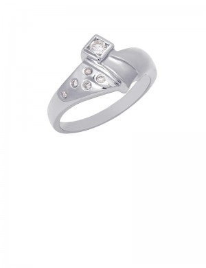 0.13ct Diamond 18K Gold Ring