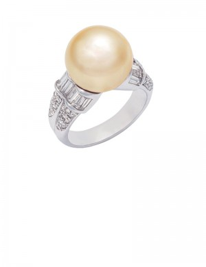 12.5mm South Sea Pearl in 18K Gold Ring