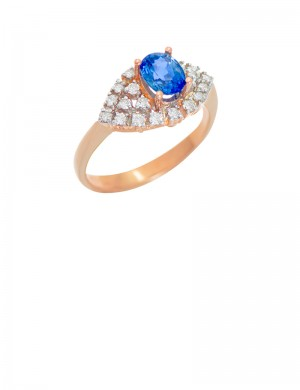 0.92ct Blue Sapphire 18K Gold Ring