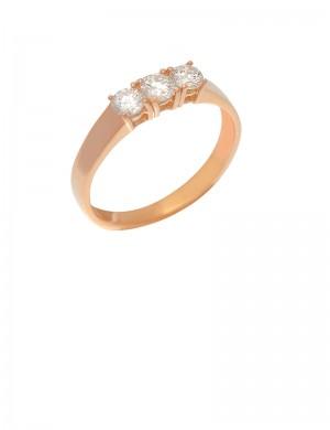 0.56ct Diamond 18K Gold Ring