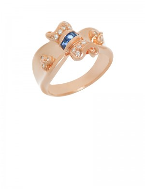 0.11ct Blue Sapphire 18K Gold Ring